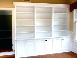 home office bookshelf ideas. Built In Shelf Ideas Home Office Bookshelf Custom Made Bookcases Empty Beautiful Large White Colour Three Slots On R
