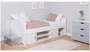 cabin bed with storage. Brilliant Storage Cabin Bed Frame  Underbed Storage Shelf Unit 2 Cube Doors White In With