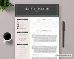 Modern Unique Resume Cv Template For Ms Word Curriculum Vitae Best Selling Cv