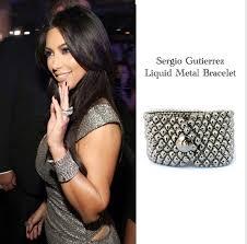 kim kardashian style for less with sergio gutierrez liquid metal bracelet celebrity looks for less fashion style famous fashionista
