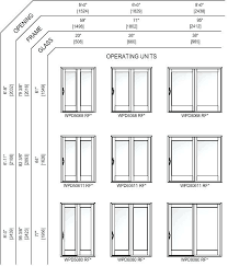 gallery of sliding patio door sizes