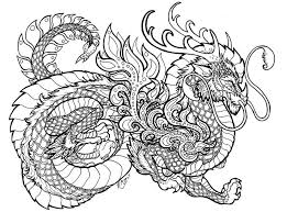 free printable dragon coloring pages for adults. Beautiful Adults Advanced Dragon Coloring Pages Free Printable For Adults  Dragons Download In On O