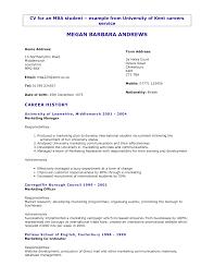 Masters Student Resume Master Resume Resume Badak 16