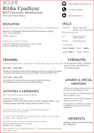 How To Make A One Page Resume New One Page Resume Leave Latter