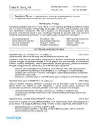 Nursing Resume Examples With Clinical Experience Resume