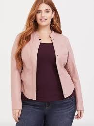 13torrid pink faux leather moto jacket 88 90