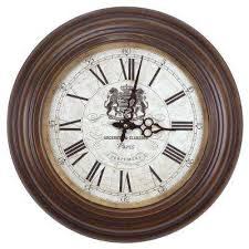 17 in circular iron wall clock