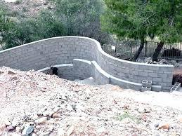 how to build concrete bag retaining wall how to build a concrete retaining wall wall building