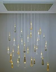 blown glass lighting raindrop blown glass pendant light ethereal drops of glass fall like water from blown glass lighting