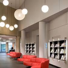 library lighting. poplar creek public library lighting