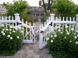 white picket fence. Picket Fence Cottage Garden White Fences Exterior Traditional With Coastal Statues And Yard Art