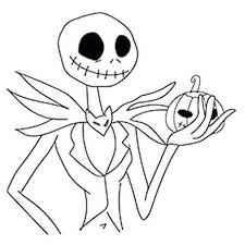 Jack Skellington Coloring Pages Easy Drawing Get Coloring Page