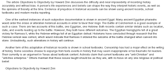analysis of objections to objectivity by howard zinn at com essay on analysis of objections to objectivity by howard zinn