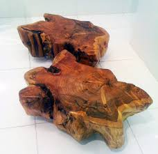 custom made wood stump tables coffee tables new york