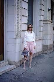 white lace self portrait top pink leather skirt emoji clothing patches
