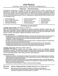resume examples information technology manager project manager resume
