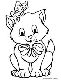 Small Picture Kitten Coloring Page Coloring Pages Coloring Home