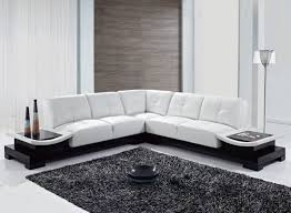 l shaped furniture. Cozy Living Room Interior Design With White L Shape Leather Sofa Furniture Ideas Shaped