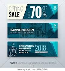 Business Banner Design Banner Template Design Presentation Concept Teal Corporate