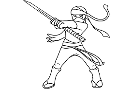 Their names are linked to renaissance art : Ninja Characters Printable Coloring Pages