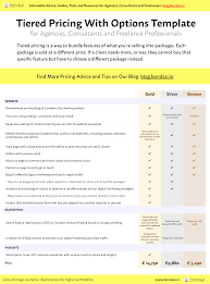 Pricing Template How To Win More Clients With Tiered Pricing The Bondsai Blog