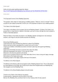Wedding Speech Example Mother's Wedding Speech 7