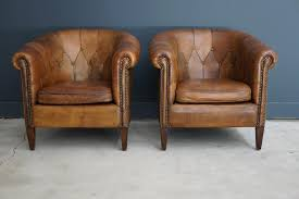 chair classy vintage set of leather club chair with on tufted and nailhead trim plus wooden legs interesting for your living room design small