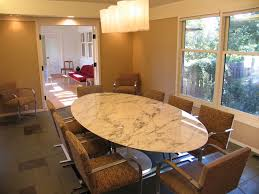 Furniture  Rectangle Marble Dining Room Table With Glass Cover - Formal oval dining room sets