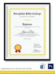 Graduation Certificate Template Word Enchanting Certificate Templates Free Format Download Sample Of School