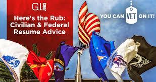 Here S The Rub Civilian Federal Resume Advice