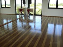 Interior Design With Mirrored Wall And Engineered Strand Woven Bamboo  Flooring