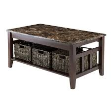 Coffee Tables With Basket Storage Zoey Coffee Table With 3 Baskets Item 76337 Walmartca