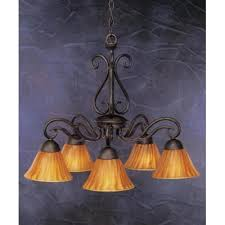 olde iron 5 light chandelier with mission glass shade shade tiger glass