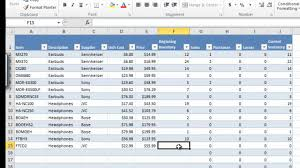 How To Create An Inventory Spreadsheet In Excel Cxm Master Inventory And Sales Workbook V1 0 For Excel 2010 Part 2