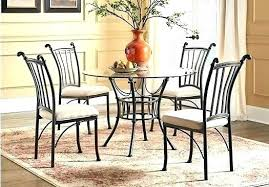 gramercy home 5 piece patio dining table set metal round glass top casual mainstays