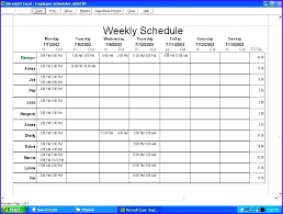 Daily Planner Template Excel Agenda Menu Work Day Fix Schedule ...