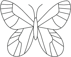 Butterfly Outline Printable Printable Stained Glass Butterfly