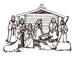 religious christmas clipart black and white. Religious Christmas Clip Art Black And White 02 Clipart