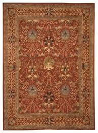 eorc rust hand tufted wool morris rug 4 x6