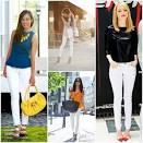 С чем можно носит белые джинсы