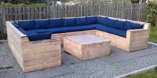 wood outdoor sectional.  Sectional DIY Pallet Wood Outdoor Sectional Sofa For