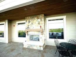 indoor outdoor double sided fireplace s indoor outdoor double sided gas fireplaces