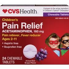 Children S Chewable Tylenol Dosage Chart Cvs Health Childrens Acetaminophen Pain Reliever Fever