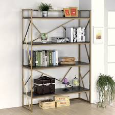 home office space inspiration yfsmagazine. Photo: Furniture Of America Nara Contemporary 4-Shelf Open Bookshelf; Source: Overstock Home Office Space Inspiration Yfsmagazine P