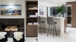 modern white floors. Room Tour: A Warm, Modern Basement With White Floors O