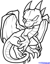 Chinese Dragon Coloring Pages For Kids With Chinese Dragon Drawing