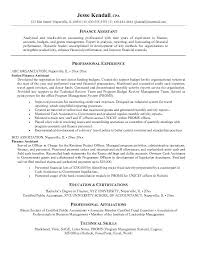 financial assistant resume sample resume financial sales assistant resume  sample