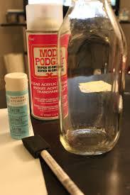 upcycled glass milk bottle vase craft budget savvy diva