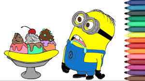 Small Picture Banana Split Minion Banana Baby Coloring Page For Kids YouTube