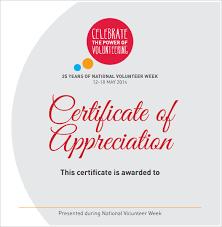 11 Volunteer Certificate Templates Sample Templates